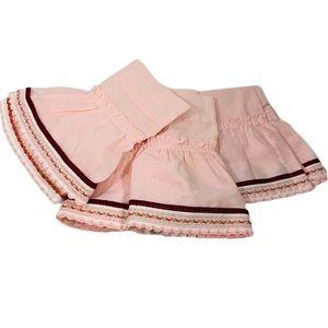 Vintage Curtain / Valance Bundle Pink Embroidered